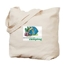 Never Too Young to Start Camping Tote Bag