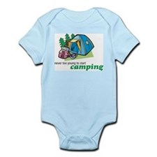 Never Too Young to Start Camping Infant Creeper