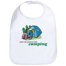Never Too Young to Start Camping Bib