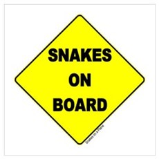 Snakes on Board Wall Art Poster