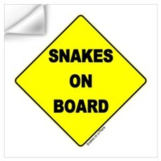 Snakes on Board Wall Art Wall Decal