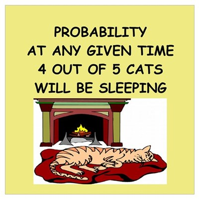 funny math joke Wall Art Poster