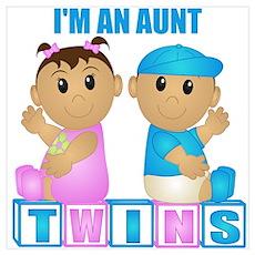 I'm An Aunt (TBG:blk) Wall Art Poster