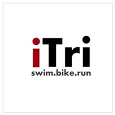 iTri Triathlon Merchandise Wall Art Poster