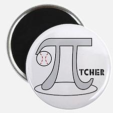 """Funny Baseball Pi-tcher 2.25"""" Magnet (100 pack)"""