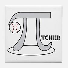 Funny Baseball Pi-tcher Tile Coaster