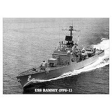 USS RAMSEY Wall Art Poster
