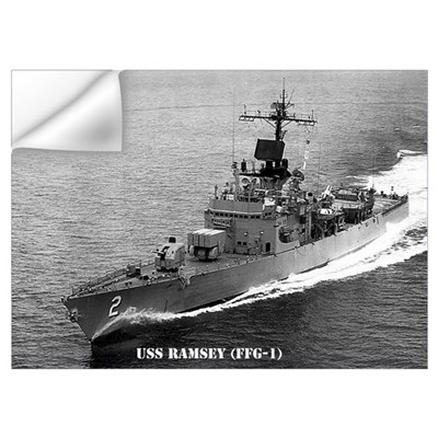 USS RAMSEY Wall Art Wall Decal