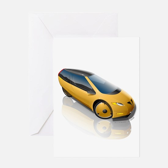 Velomobile Concept Greeting Card