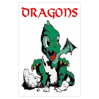 Dragon Cave Wall Art Poster