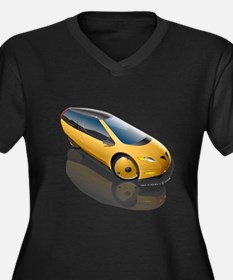Velomobile Concept Women's Plus Size V-Neck Dark T