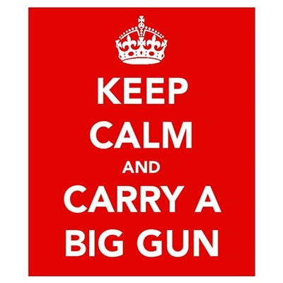 Carry a Big Gun.... Wall Art Poster
