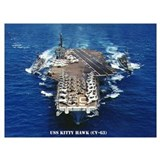 Uss kitty hawk Framed Prints