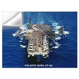 Uss kitty hawk Wall Decals