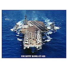 USS KITTY HAWK Wall Art Poster