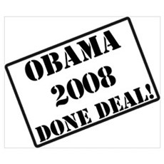 Obama Rubber Stamp Wall Art Poster