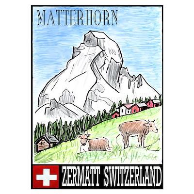 The Matterhorn Shop Wall Art Poster