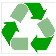 Green Recycle Symbol Wall Art Poster