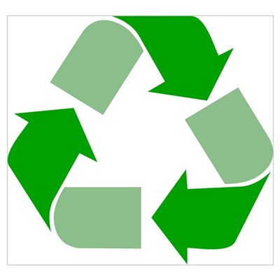 Green Recycle Symbol Wall Art Canvas Art