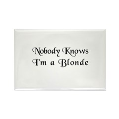 The Closet Blonde's Rectangle Magnet (10 pack)