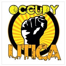 Occupy Utica Wall Art Poster
