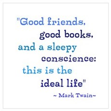 Good Friends Good Books Wall Art Canvas Art