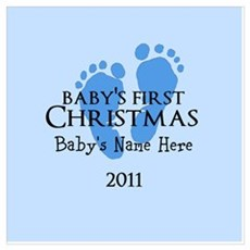 Baby's First Christmas 2011 Wall Art Poster