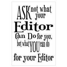 Ask Not Editor Wall Art