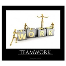 Teamwork motivational poster Wall Art Framed Print