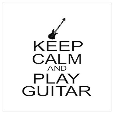 Keep Calm Play Guitar (Electric) Wall Art Poster