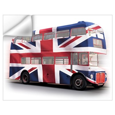 London Bus with Union Jack an Wall Art Wall Decal
