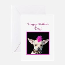 Happy Mother's day punk Chihu Greeting Card
