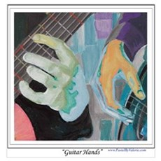 Guitar Hands Wall Art Poster