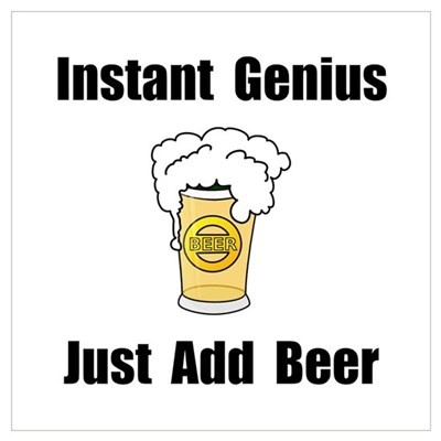 Instant Genius Beer Wall Art Framed Print