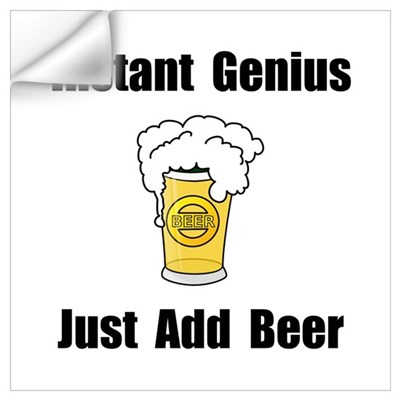 Instant Genius Beer Wall Art Wall Decal