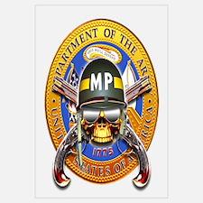 US Army Military Police Skull Wall Art