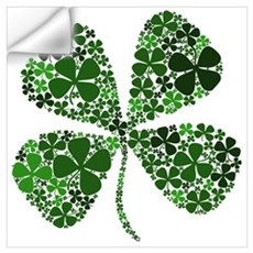 Lucky 4 Leaf Clover Irish Wall Art Wall Decal