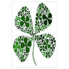 Lucky 4 Leaf Clover Irish Wall Art