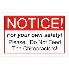 Notice / Chiropractors Wall Art Poster