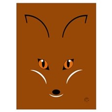 Fox Face Wall Art Poster