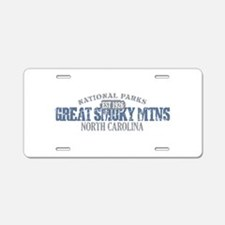 Great Smoky Mountains NC Aluminum License Plate