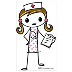 Cute Nurse Wall Art Poster