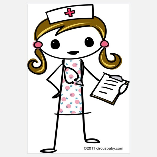 Cute Nurse Wall Art