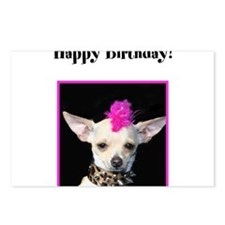 Happy Birthday Chihuahua Postcards (Package of 8)