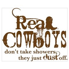 Real Cowboys Wall Art Poster