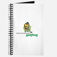 Never Too Young to Start Golfing Journal