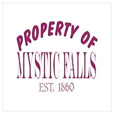 Property Of Mystic Falls Wall Art Poster