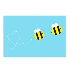 Bee In Love - Sky Background Postcards (Package of