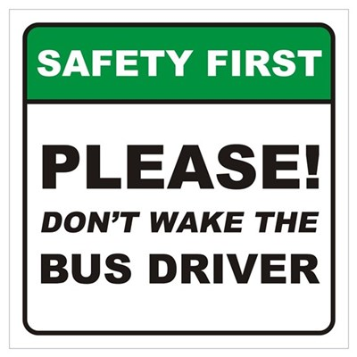 Bus Driver / Wake Wall Art Framed Print