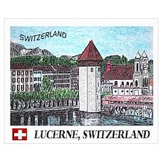 Lucerne Switzerland Wall Art Poster